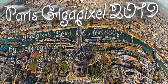 2019 Skyline Of Paris Gigapixel 360º Panoramic Photo