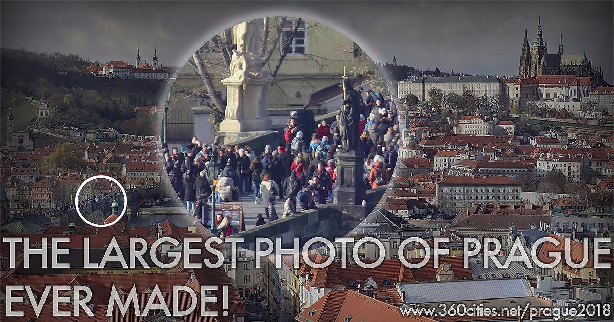 Prague from Old Town Square - the Largest Photo of Prague Ever Taken.